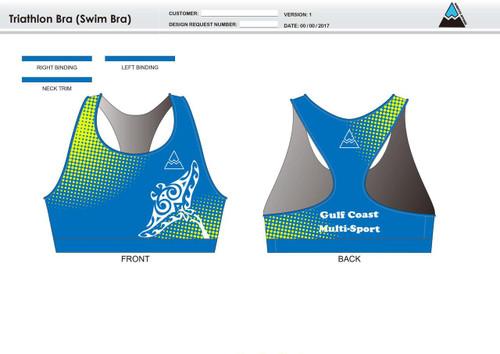 Gulf Coast Multisport Neon Triathlon Bra