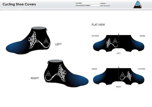 Gulf Coast Multisport Black Cycling Shoe Covers