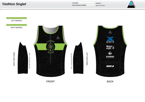 Lycoming Tri Club Men's Tri Singlet