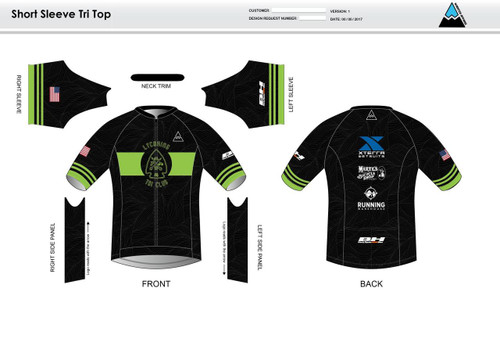 Lycoming Tri Club Short Sleeve Aero Tri Top