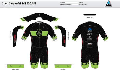 Lycoming Tri Club ESCAPE Short Sleeve Tri Suit