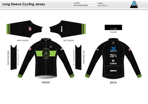 Lycoming Tri Club Long Sleeve Cycling Jersery