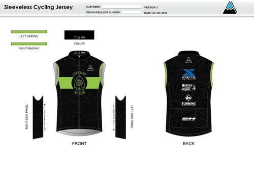 Lycoming Tri Club Cycling Wind Vest
