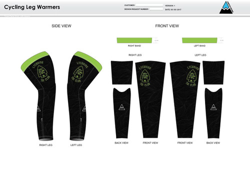 Lycoming Tri Club Cycling Leg Sleeves
