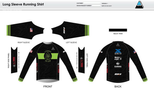 Lycoming Tri Club Long Sleeve Running Shirt