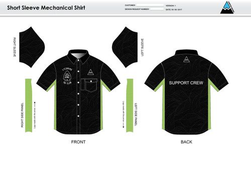 Lycoming Tri Club Adult Mechanic Shirt - UNISEX Sizing