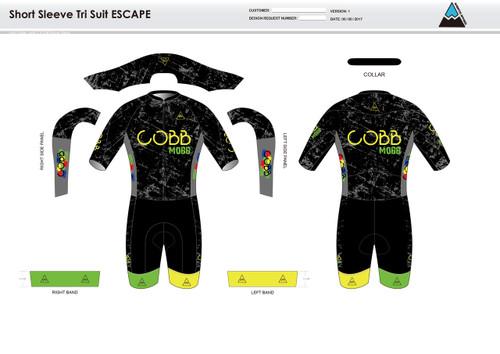 Cobb Mobb Escape Short Sleeve Tri Suit