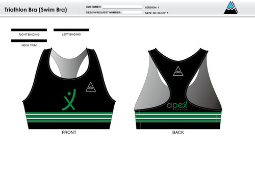 Apex Stretch Stripe Triathlon Bra