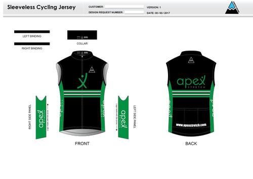 Apex Stretch Stripe Sleeveless Cycling Jersey