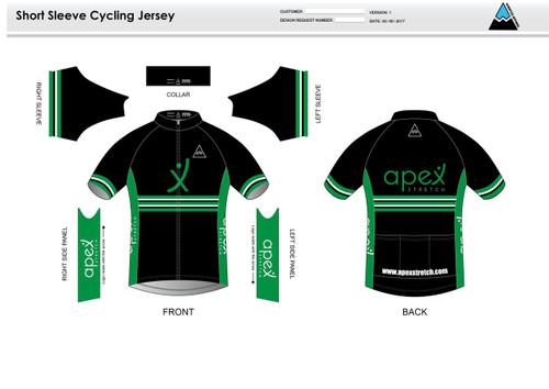 Apex Stretch Stripe Short Sleeve Cycling Jersey