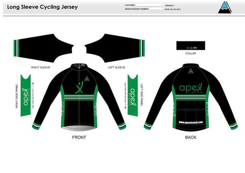 Apex Stretch Stripe Long Sleeve Cycling Jersey