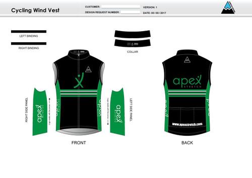Apex Stretch Stripe Cycling Wind Vest