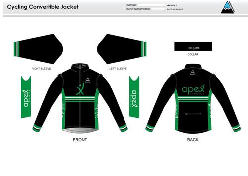 Apex Stretch Stripe Convertible Jacket