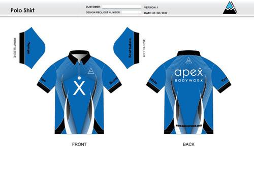 Apex Stretch Blue Adult Polo Shirt