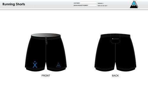 Apex Stretch Blue Running Shorts