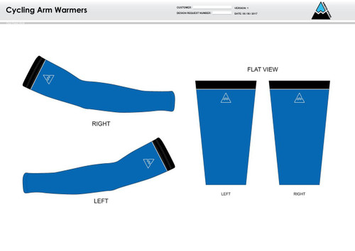 Apex Stretch Blue Cycling Arm Sleeves