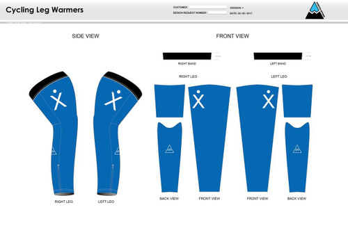Apex Stretch Blue Cycling Leg Sleeves