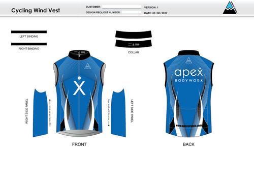 Apex Stretch Blue Cycling Wind Vest
