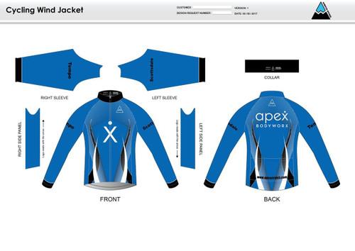 Apex Stretch Blue Wind Jacket