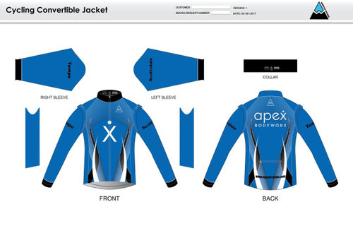 Apex Stretch Blue Convertible Jacket