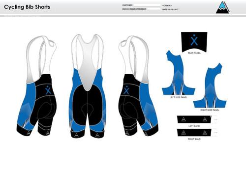 Apex Stretch Blue Cycling Bibs