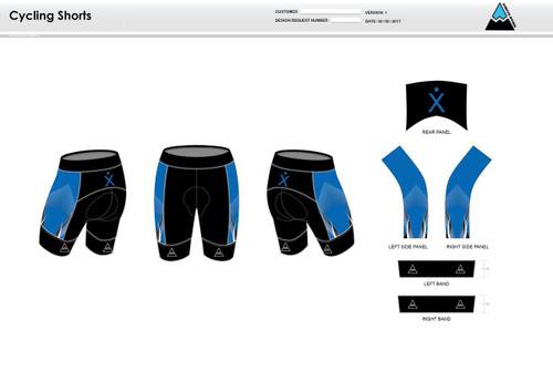 Apex Stretch Blue Cycling Shorts