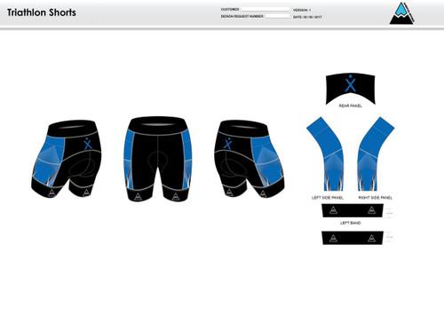 Apex Stretch Blue Men's Tri Shorts