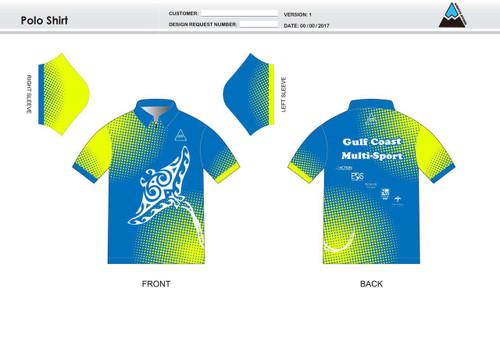Gulf Coast Multisport Neon Youth Polo Shirt