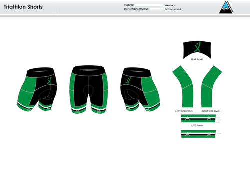 Apex Stretch Stripe Youth Tri Shorts