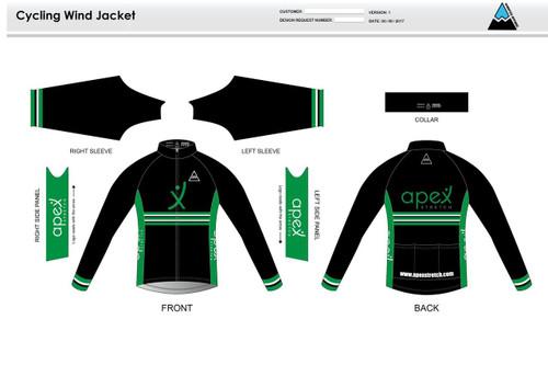 Apex Stretch Stripe Youth Wind Jacket