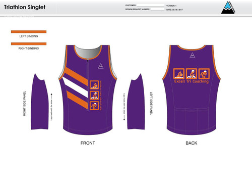 Excell Youth Tri Singlet