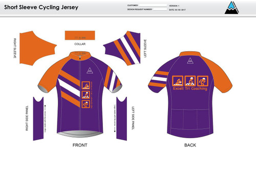 Excell Youth Short Sleeve Cycling Jersey