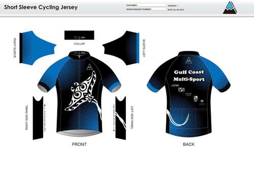 Gulf Coast Multisport Black Youth Short Sleeve Cycling Jersey