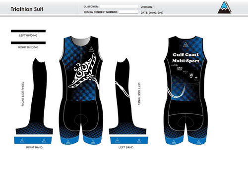 Gulf Coast Multisport Black Youth Sleeveless Tri Suit
