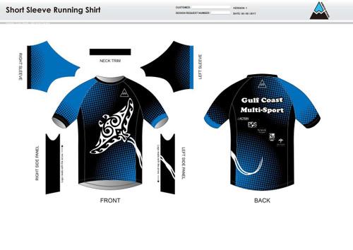 Gulf Coast Multisport Black Youth Short Sleeve Running Shirt