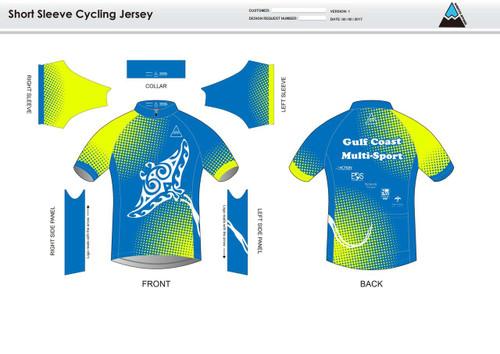 Gulf Coast Multisport Neon Youth Short Sleeve Cycling Jersey