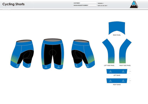 Gulf Coast Multisport Neon Youth Cycling Shorts