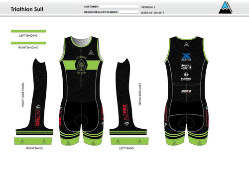 Lycoming Tri Club Youth Sleeveless Tri Suit
