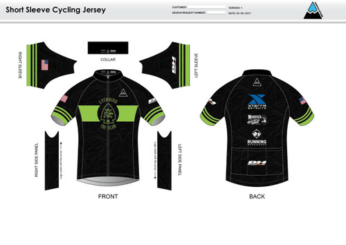 Lycoming Tri Club Youth Short Sleeve Cycling Jersey