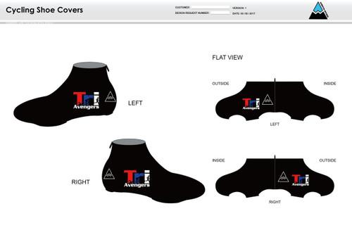 Tri Avengers Cycling Shoe Covers