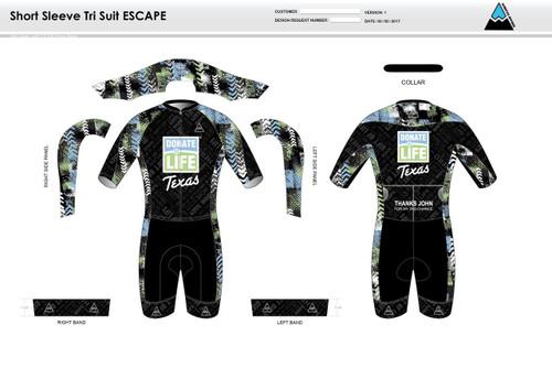 Donate Life ESCAPE Short Sleeve Tri Suit