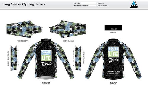 Donate Life Long Sleeve Thermal Cycling Jersey