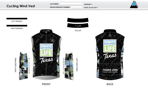Donate Life Cycling Wind Vest