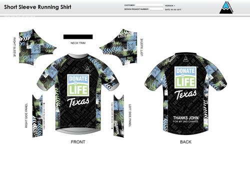 Donate Life Short Sleeve Running Shirt