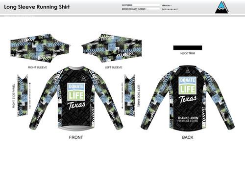Donate Life Long Sleeve Running Shirt