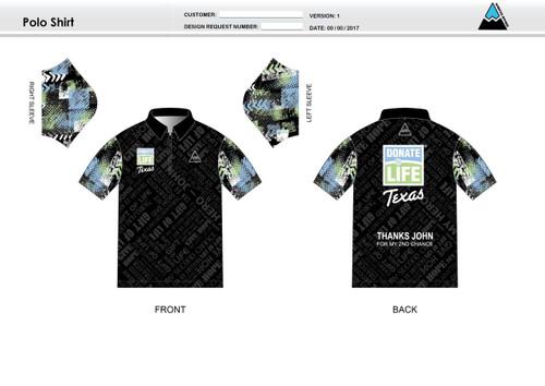 Donate Life Adult Polo Shirt