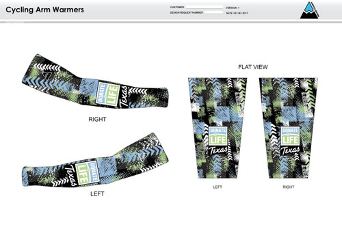 Donate Life Cycling Arm Sleeves