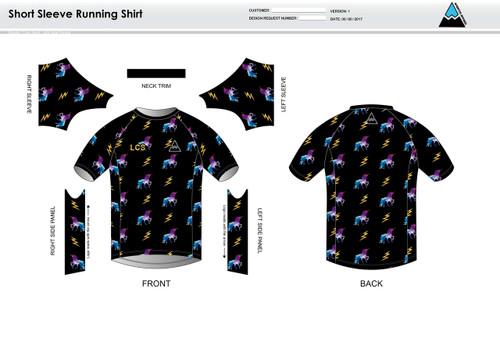 Addybugg Adult Short Sleeve Running Shirt