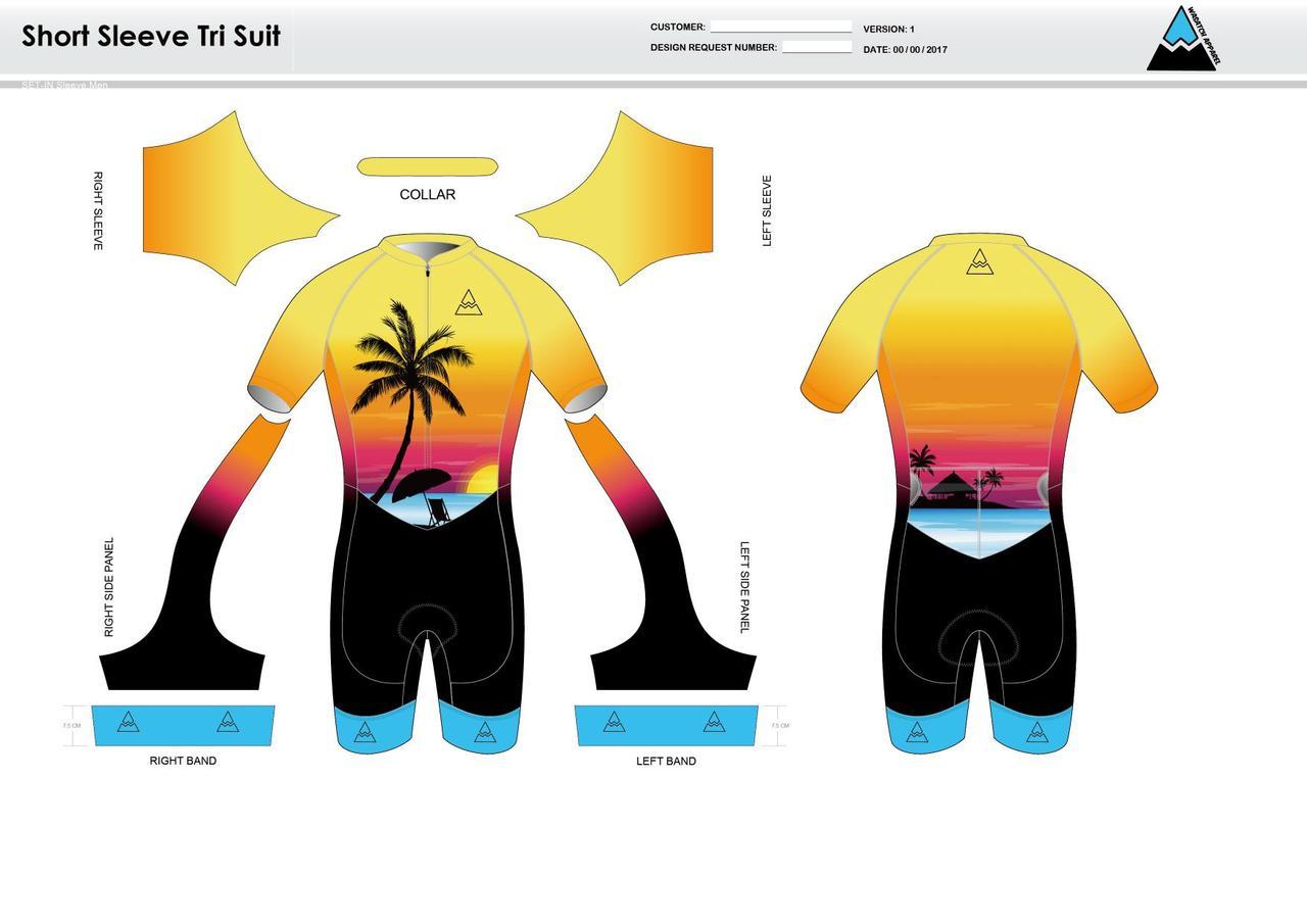 Oceanside Short Sleeve Tri Suit