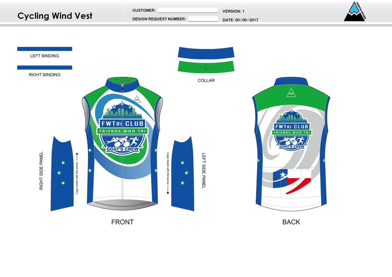 FWTri Cycling Wind Vest - Wasatch Apparel 66ce91f24
